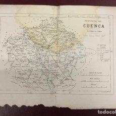 Mapas contemporáneos: 3 MAPAS - PROVINCIA DE TERUEL GUADALAJARA CUENCA - B CUARANTA GRABADOR - RUBIO GRILO Y VITTURI 32X23. Lote 224844410