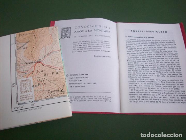 Mapas contemporáneos: GUIA CARTOGRAFICA EDIT. ALPINA - PIRINEO ARAGONES - POSETS - PERDIGUERO - VALLE DE BENASQUE . - Foto 5 - 224876703