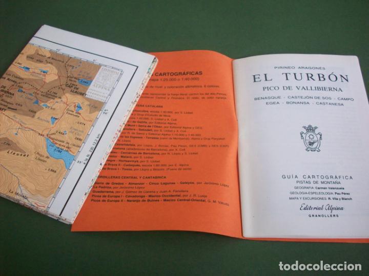Mapas contemporáneos: GUIA CARTOGRAFICA EDIT. ALPINA - PIRINEO ARAGONES - EL TURBON - PICO DE VALLIBIERNA - Foto 3 - 224877246