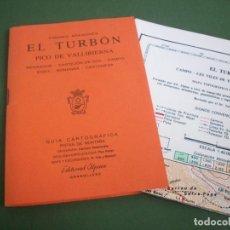 Mapas contemporáneos: GUIA CARTOGRAFICA EDIT. ALPINA - PIRINEO ARAGONES - EL TURBON - PICO DE VALLIBIERNA. Lote 224877246