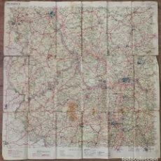 Mapas contemporáneos: MAPA SIGLO XX CARRETERAS ALEMANIA FRANKFURK, MANNHEIM WORMS TRIER SPEYER KÖLN. Lote 225159125