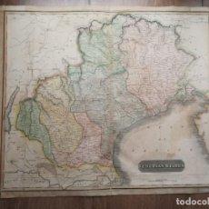 Mapas contemporáneos: MAPA ANTIGUO SIGLO XIX VENETIAN STATES VENECIA ITALIA 1816 THOMAS THOMSON. Lote 225244335