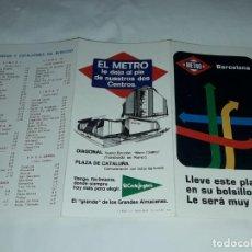Mapas contemporáneos: MAPA PLANO DE METRO 50 ANIVERSARIO METRO DE BARCELONA CON SELLOS AÑO 1974. Lote 225279110