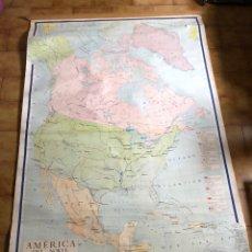Mapas contemporáneos: ANTIGUO MAPA CARTEL AMERICA DEL NORTE MAPA POLÍTICO 1,93X1,26CM. Lote 226979335