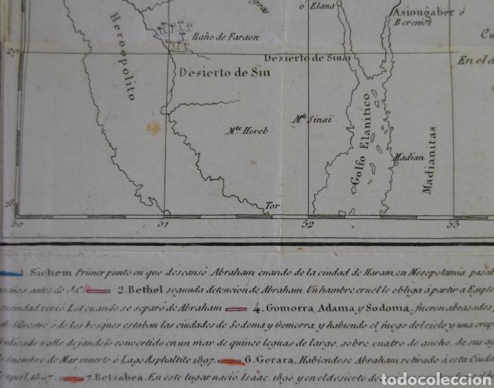 Mapas contemporáneos: MAPA DEL PAIS DE CHANAAN. TIERRA PROMETIDA (ISRAEL) DE A. HOUZE. TRADUCIDO AL ESPAÑOL. 1840. BIBLIA. - Foto 4 - 227226605