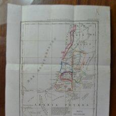 Mapas contemporáneos: MAPA DEL PAIS DE CHANAAN. TIERRA PROMETIDA (ISRAEL) DE A. HOUZE. TRADUCIDO AL ESPAÑOL. 1840. BIBLIA.. Lote 227226605