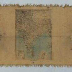 Mapas contemporáneos: ANTIGUO MAPA EN SEDA - OLD SILK MAP : INDIA. MADE IN JAPAN. Lote 227560375