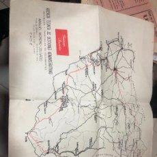 Mapas contemporáneos: MAPA DE LAS PROVINCIAS DE CADIZ EN LA REUNION DE GESTIONES ADMINISTRATIVAS. Lote 228162095