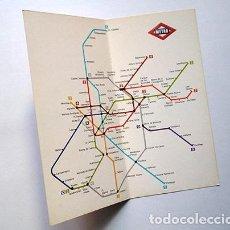 Mapas contemporáneos: PLANO METRO DE MADRID, 1981. MUY BUEN ESTADO. Lote 228553550
