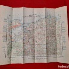 Mapas contemporáneos: MAPA SANTANDER CANTABRIA EDICIÓN MILITAR 1942. BAHÍA DE SANTANDER 69 X 55. Lote 228610860