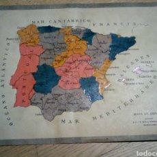 Mapas contemporáneos: MAPA ESPAÑA RECORTABLE SEIX Y BARRAL. Lote 228831450