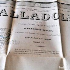 Mapas contemporáneos: CARTOGRAFIA ANTIGUA,GRAN PLANO-MAPA SIGLO XIX,AÑO 1852 PROVINCIA VALLADOLID,INGENIERO MILITAR. Lote 229020045