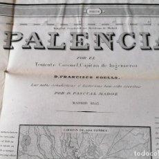 Mapas contemporáneos: CARTOGRAFIA ANTIGUA,GRAN PLANO-MAPA SIGLO XIX,AÑO 1852 PROVINCIA PALENCIA,INGENIERO MILITAR. Lote 229023685