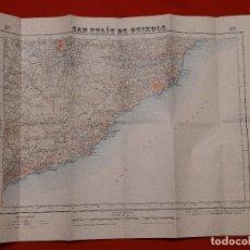 Mapas contemporáneos: MAPA SAN FELIU DE GUIXOLS TOSSA LLORET DE MAR GIRONA COSTA BRAVA EDICIÓN MILITAR 1950. Lote 229163660