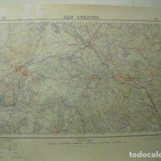 Mapas contemporáneos: 1929 MAPA DE SAN LORENZO 1:50000. Lote 229174315