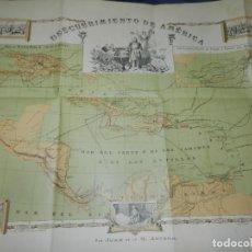 Mapas contemporáneos: (M) MAPA DE CUBA - DESCUBRIMIENTO DE AMÉRICA POR JUAN DE LA G.ARTERO - 75X54,5CM. Lote 229573925