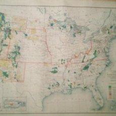 Mapas contemporâneos: MAPA PARQUES NACIONALES, FORESTALES Y RESERVAS INDIAS DE 1942 POR GEOLOGICAL U.S DE 1942 EN INGLES. Lote 230323635