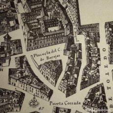 Mapas contemporáneos: AÑOS 40-PLANO DE MADRID EN EL SIGLO XVII-PLAZA CALLE MAYOR-TOLEDO-PUERTA DEL SOL-HERRADORES-CARRETAS. Lote 230614230