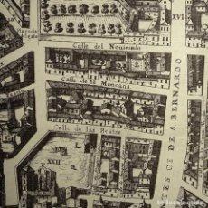 Mapas contemporáneos: AÑOS 40-PLANO DE MADRID EN EL SIGLO XVII-CALLE SAN BERNARDO-FUENCARRAL-PEZ-BARCO-VALVERDE-ALMIRANTE. Lote 230614380