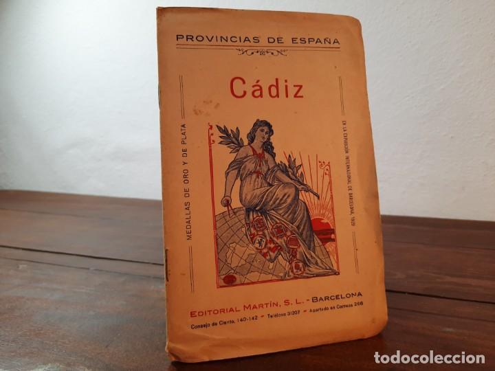 CADIZ, PROVINCIAS DE ESPAÑA - D. BENITO CHIAS CARBÓ - EDITORIAL MARTIN, NO CONSTA AÑO (Coleccionismo - Mapas - Mapas actuales (desde siglo XIX))