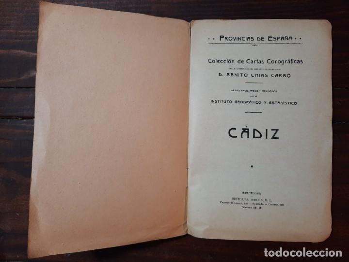 Mapas contemporáneos: CADIZ, PROVINCIAS DE ESPAÑA - D. BENITO CHIAS CARBÓ - EDITORIAL MARTIN, NO CONSTA AÑO - Foto 4 - 230871680