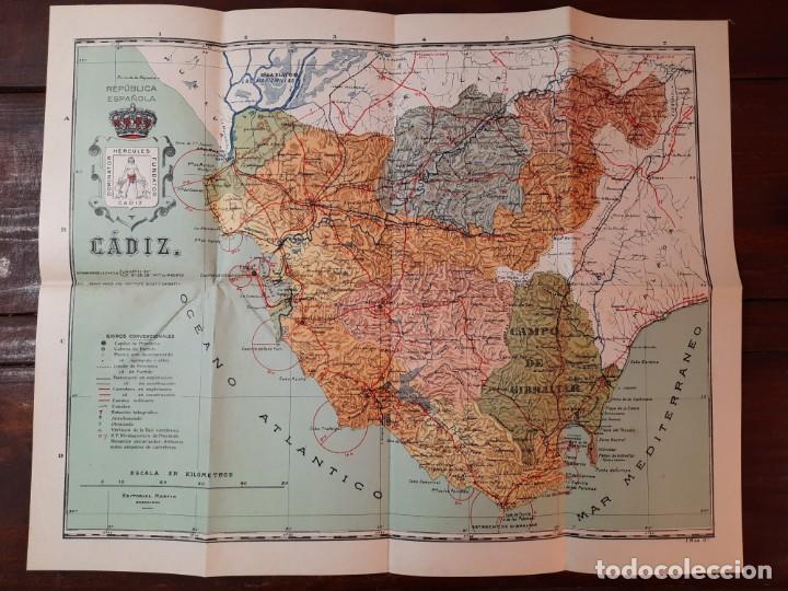 Mapas contemporáneos: CADIZ, PROVINCIAS DE ESPAÑA - D. BENITO CHIAS CARBÓ - EDITORIAL MARTIN, NO CONSTA AÑO - Foto 7 - 230871680