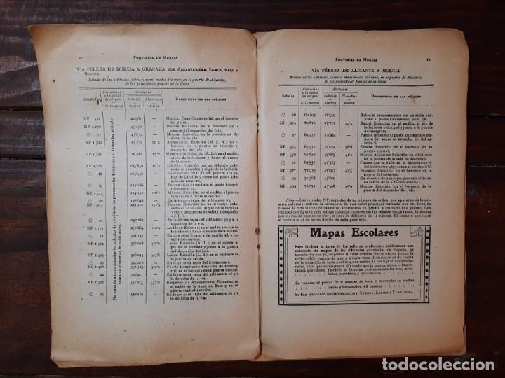 Mapas contemporáneos: MURCIA, PROVINCIAS DE ESPAÑA - D. BENITO CHIAS CARBÓ - EDITORIAL MARTIN, NO CONSTA AÑO - Foto 6 - 230874325