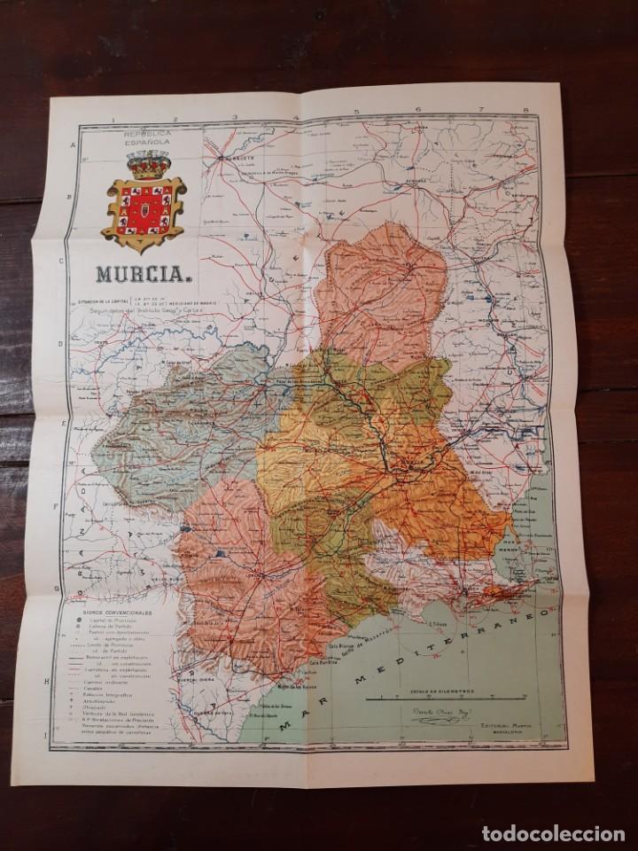 Mapas contemporáneos: MURCIA, PROVINCIAS DE ESPAÑA - D. BENITO CHIAS CARBÓ - EDITORIAL MARTIN, NO CONSTA AÑO - Foto 8 - 230874325