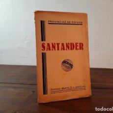 Mapas contemporáneos: SANTANDER, PROVINCIAS DE ESPAÑA - D. BENITO CHIAS CARBÓ - EDITORIAL MARTIN, NO CONSTA AÑO. Lote 230876090