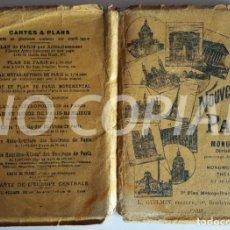 """Mapas contemporáneos: VINTAGE AND RARE GUIDE """"NOUVEAU PLAN DE PARIS MONUMENTAL"""". PRINTER: L. GUILMIN. (CIRCA 1920).. Lote 232498930"""