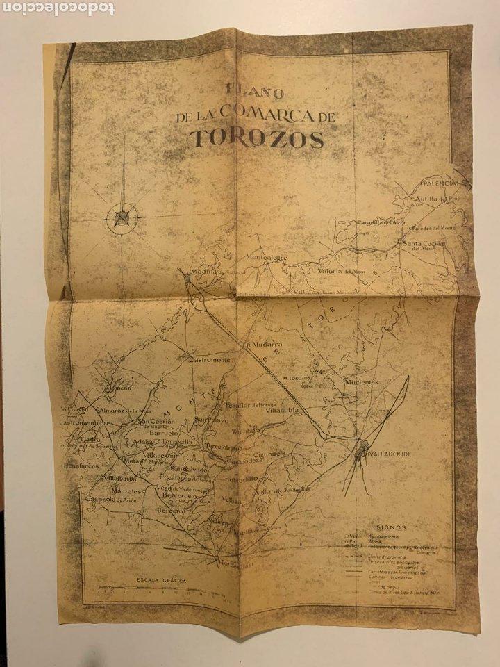 PLANO. COMARCA DE LOS MONTES TOROZOS. COPIA XEROGRÁFICA. MAPAS. VALLADOLID. PALENCIA. CARTOGRAFÍA. (Coleccionismo - Mapas - Mapas actuales (desde siglo XIX))