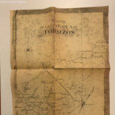 Mapas contemporáneos: PLANO. COMARCA DE LOS MONTES TOROZOS. COPIA XEROGRÁFICA. MAPAS. VALLADOLID. PALENCIA. CARTOGRAFÍA.. Lote 233269010
