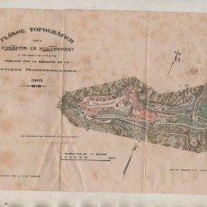 Mapas contemporáneos: PLANOL TOPOGRÁFICH DEL MONESTIR DE MONTSERRAT 1909 DENILEAT PER JOAN CABEZA. Lote 233442205