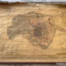 Mapas contemporáneos: GRAN PLANO DE MADRID Y SU TERMINO . INGENIERO NUÑEZ GRANES . ENTELADO .1910 .ESCALA 1: 10000. Lote 233545620