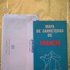 Mapas contemporáneos: MAPA DE CARRETERAS DE FRANCIA - COLECCION MAPAS DE LABORATORIOS ROCHE - AÑO 1963. Lote 235018795