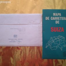 Mapas contemporáneos: MAPA DE CARRETERAS DE SUIZA - COLECCIÓN MAPAS DE LABORATORIOS ROCHE - AÑO 1963. Lote 235019030