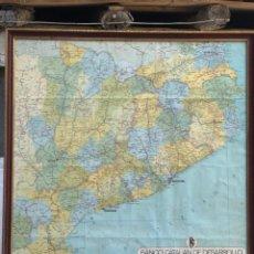 Mapas contemporáneos: MAPA DE CATALUÑA, ENMARCADO AÑOS 60. Lote 235385470