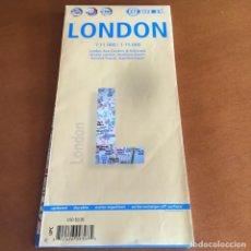 Mapas contemporáneos: PLANO DESPLEGABLE DE LONDRES. Lote 236036905