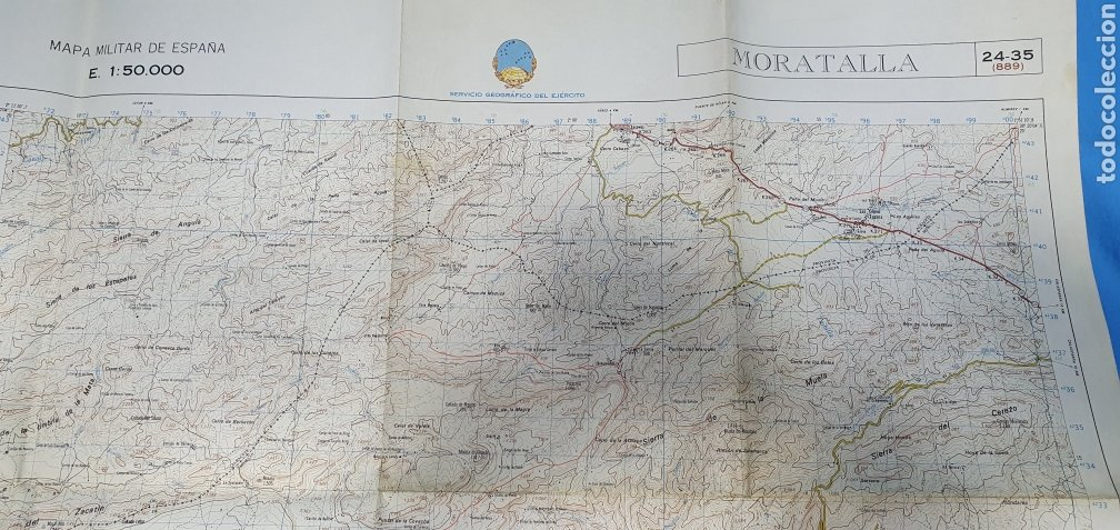 Mapas contemporáneos: MAPA MILITAR DE ESPAÑA - MORATALLA - SERVICIO GEOGRÁFICO DEL EJÉRCITO - E 1: 50.000 - Foto 4 - 236128315