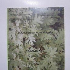 Mapas contemporáneos: AYAMONTE: HOJA 2-11: MAPA FORESTAL DE ESPAÑA. MADRID: ICONA, 1990. Lote 236218900
