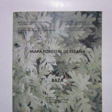 Mapas contemporáneos: BAZA: HOJA 6-10: MAPA FORESTAL DE ESPAÑA. MADRID: ICONA, 1990. Lote 236219090