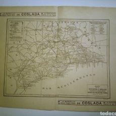Mapas contemporáneos: PROVINCIA DE MÁLAGA MAPA ANTIGUO 1935 BAILLY BAILLIERE. Lote 236473390