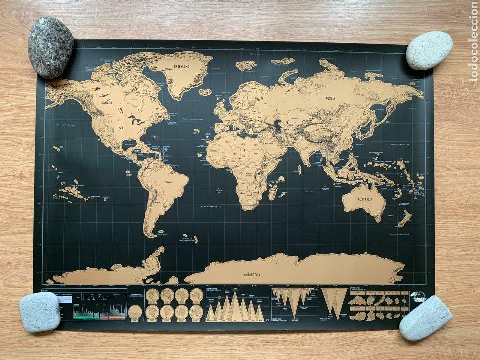 Mapas contemporáneos: Mapamundi. Scratch map (Deluxe edition). Mapa de rascar (Edición Deluxe). Geografía. - Foto 2 - 236918925