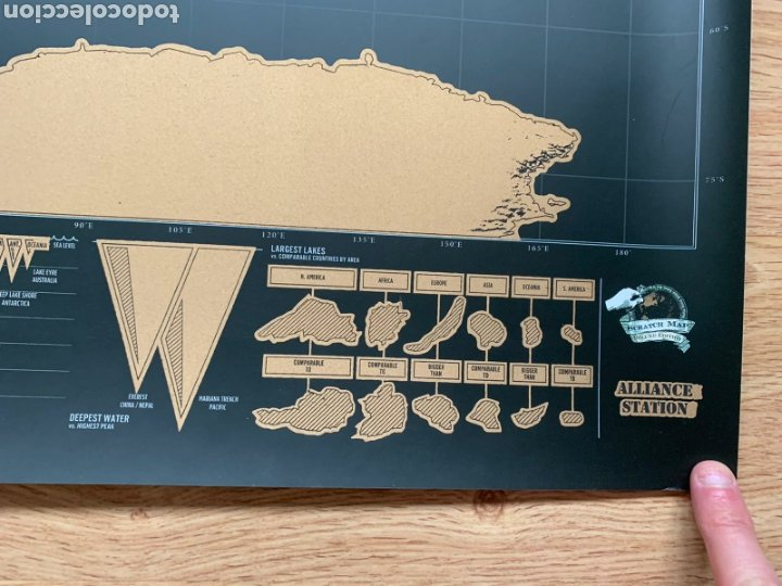 Mapas contemporáneos: Mapamundi. Scratch map (Deluxe edition). Mapa de rascar (Edición Deluxe). Geografía. - Foto 8 - 236918925