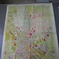 """Mapas contemporáneos: PLANO CASTILLA ( MADRID ) ESTACIONES DEL """" METRO """". TIP. LIT. COULLAUT,. Lote 237042780"""