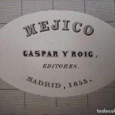 Mapas contemporâneos: MARAVILLOSO MAPA DE MÉXICO Y GUATEMALA, GRABADO AL ACERO, DUFOUR, ORIGINAL, MADRID, 1852, ESPLÉNDIDO. Lote 237097940