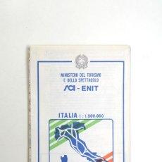 Mapas contemporáneos: MAPA DE CARRETERAS MINISTERIO DE TURISMO ITALIA 1987. Lote 237512425