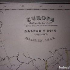 Mapas contemporáneos: MARAVILLOSO MAPA EUROPA DURANTE LA INVASIÓN BÁRBARA , GRABADO ACERO, DUFOUR, ORIGINAL, MADRID,1852.. Lote 237575445