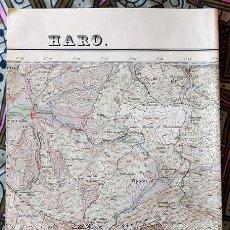 Mapas contemporáneos: MAPA CARTOGRÁFICO DE HARO ( LA RIOJA) ESCALA 1/50.000. 2ª EDICIÓN 1953.. Lote 237596700