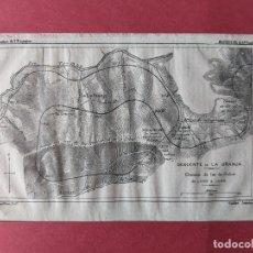 Mapas contemporáneos: 1883 FERROCARRILES GRABADO DESCENDENTE DE LA GRANJA TUNEL DEL LAZO FFCC LEON LUGO. Lote 237648025